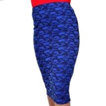 Floral Patterned Tube Skirt | Blue
