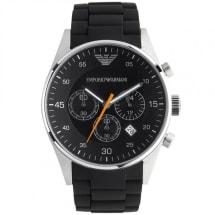 Gents Black Silicone Watch AR5858