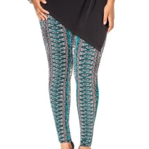 Green Patterned Pants