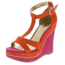 Heidi T-Strap Wedge Sandals