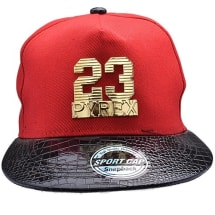 Kings Leather Snapback Cap 23 - Red