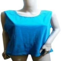 Knitted Neckline Sleeveless Top