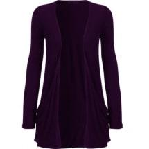 Ladies Waterfall Cardigan Top - Purple
