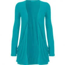 Ladies Waterfall Cardigan Top - Turquoise