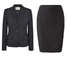 Ladies Wool Lined Fitted Skirt Suit