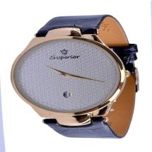 Leather Wrist Watch - Black
