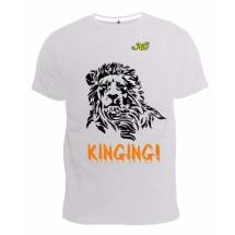 Lion Design T-Shirt - White