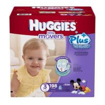 Little Movers Plus Diapers - Size: 3 - 198 Ct