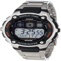 Men's Silver Tone Multi-function Watch