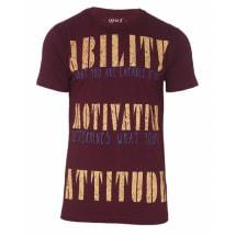 No. 5 Graffiti Print T-Shirt - Maroon Red