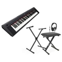 Piaggero Np31 Digital Piano-Black + Stand Bench & Headphones