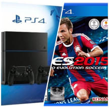 Playstation4 Console Bundle With Extra Dualshock4 Pad & PES 2015 - 1TB HDD PS4