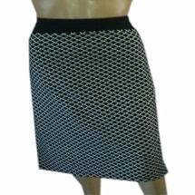 Plus Size Black & White Check Skirt