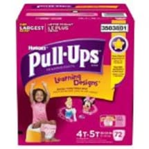 Pull-ups Learning Designs 4t-5t Training Pants For Girls | 72 Count
