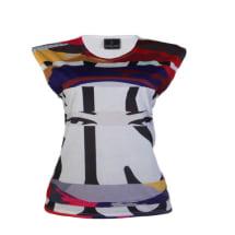 Sisi Roundneck Modern Print Vest Top - Multicolour