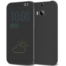 Slim DOT Matrix View Smart Flip Case Cover for HTC One M9
