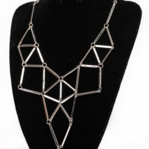 Structured Neckpiece - Silver