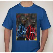 Taribo West & George Weah Milan Derby Tee - Blue