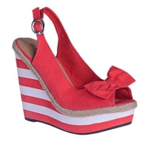 Wedge Shoe - Red