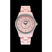 Women's Luxury Ceramic Bracelet Quartz Watch - Pink