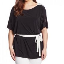 Women's Short Sleeve Blouse | Black & White
