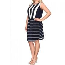 Yacht Stripe Mixed Print Dress
