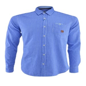 Gingham Casual Long Sleeve Shirt | Blue