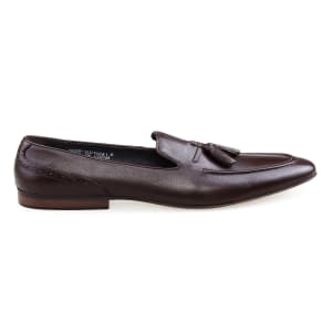 Men's Leather Tassel Formal Loafers | Coffee