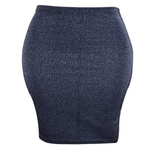 Glitter Bodycon Skirt | Grey