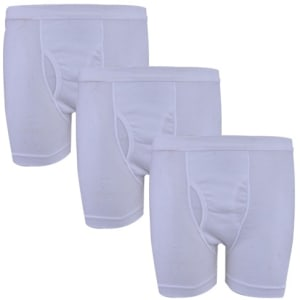 3-In-1 Boxers - Medium - White