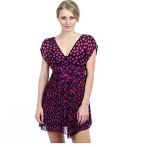 Irregular Shaped Polka Dots Mini Dress