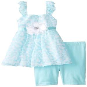 Little Girls' Printed 2 piece shorts set