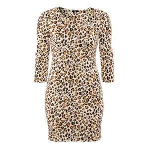 Leopard Print Dress - Brown