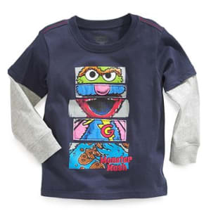 Baby Boy Sesame Street Layered Long Sleeve Shirt