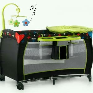Baby Center - Travel Cot - Cross Caviar