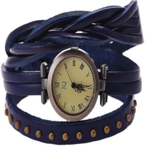 Braid Roman Number Strap Watch - Blue