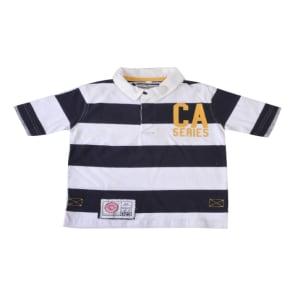 C A Series Navy & Cream Polo Tee Shirt