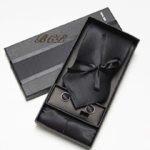 Corporate Complete Tie Set - Plain Black