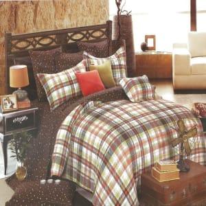 Dots & Lumba Combo Bedsheet + Duvet + 4 pillowcases - 6 by 6ft