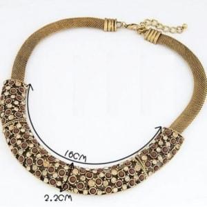 Gold Bar Choker Necklace
