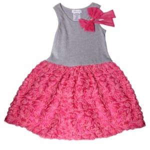 Knit Bonaz Dress - Grey & Pink