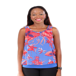 Ladies Floral Sleeveless Twin Layer Top