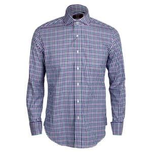 Long Sleeve Check Shirt - Purple & Green