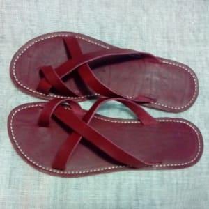 Men's Burgundy Slippers