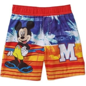 Mickey Mouse Toddler Surfboard Swim Trunks