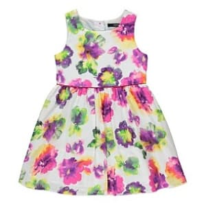 Multicolored Flowered Gown