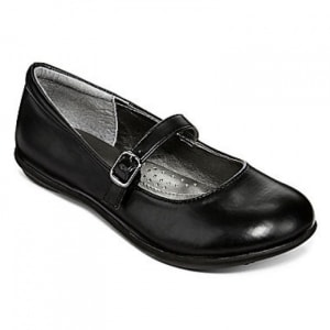 Sara Girls Black School Shoes