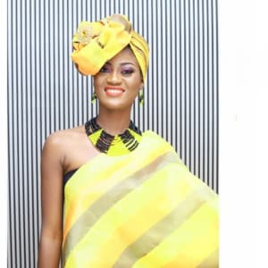Shades of Yellow & Brown Soge Gele and Ipele