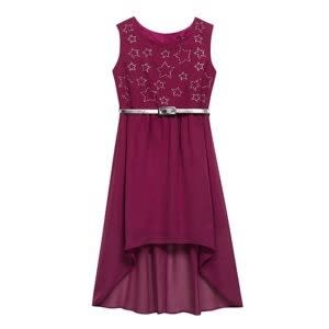 Star by Julien Macdonald Designer Girl's Purple Belted Dress