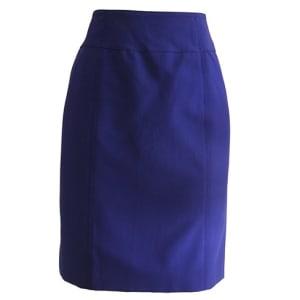 Straight Blue Skirt